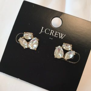 J crew sparkly cluster clear post earrings